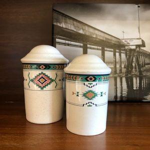 Vintage 80s Southwest Salt & Pepper Shakers